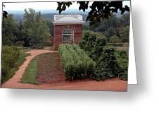 Monticello Vegetable Garden Pavilion Greeting Card