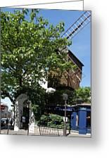 Montmarte Paris Windmill Greeting Card