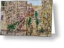 Montmarter   Greeting Card