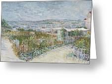 Montmartre  Behind The Moulin De La Galette Paris, July 1887 Vincent Van Gogh 1853  1890 Greeting Card