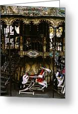 Montmartre Carousel Greeting Card
