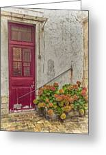 Montmartre Doorway Greeting Card