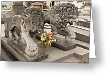 Montparnasse Cemetery Greeting Card