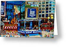 Montreal City Paintings By Streetscene Specialist Carole Spandau  Over 500 Prints Available Greeting Card