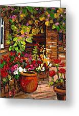 Montreal Cityscenes Homes And Gardens Greeting Card by Carole Spandau