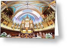 Montreal Notre-dame Basilica Greeting Card