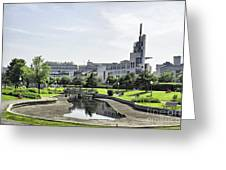 Montreal Peace In The Rush Greeting Card