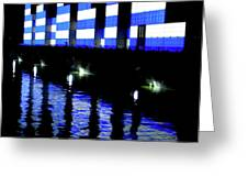 Montreal Port Night Greeting Card