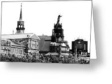 Montreal Port View Greeting Card
