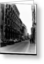 Montreal Street Black And White Greeting Card