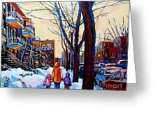 Montreal Winter Greeting Card