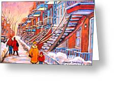 Montreal Winter Walk Greeting Card