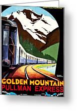 Montreux, Golden Mountain Railway, Switzerland Greeting Card