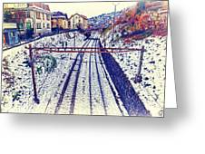 Montreux, Tracks In The City. Greeting Card