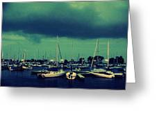 Montrose Harbor Evening Greeting Card