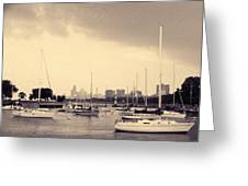 Montrose Harbor Skyline Greeting Card