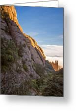 Montserrat Hike Painterly Greeting Card