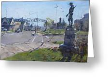 Monument At Pine Ave And Portage Rd Greeting Card