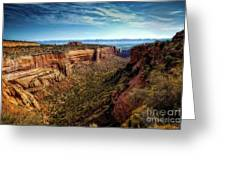 Monument Canyon And Saddlehorn Greeting Card