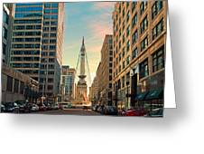 Monument Circle - Indianapolis Greeting Card
