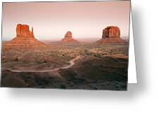 Monument Dusk Greeting Card