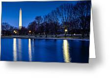 Monument In Blue Greeting Card