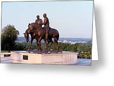 Monument In Nauvoo Illinois Of Hyrum And Joseph Smith Riding Their Horses Greeting Card