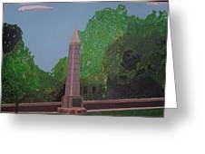Monument Of The Revolutionary War Of 1776 Greeting Card by William Demboski