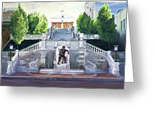 Monument Terrace Greeting Card by J Luis Lozano