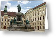 Monument To Emperor Franz I, Innerer Burghof In The Hofburg Imperial Palace. Vienna, Austria. Greeting Card