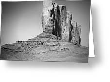 Monument Valley Camel Butte Black And White Greeting Card