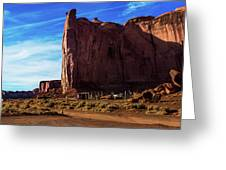 Monument Valley Corral Greeting Card