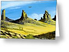 Monument Valley Eagle Rock Greeting Card