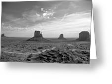 Monument Valley Monochrome Greeting Card