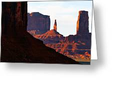 Monument Valley Pano Work D Greeting Card