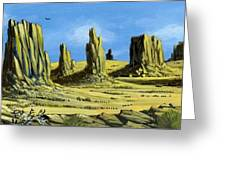 Monument Valley Spider Mesa Greeting Card