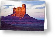 Monument Valley Sunset One Greeting Card