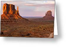 Monument Valley Sunset Panorama Greeting Card