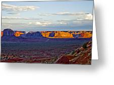 Monument Valley Sunset Two Greeting Card