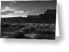 Monument Valley View - Black And White Greeting Card