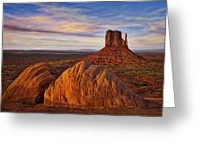 Monument Valley West Mitten Greeting Card