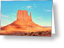 Monument Valley Wide View Greeting Card