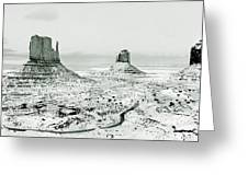 Monument Valley, Winter Greeting Card