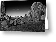 Monument Valley Rock Formations Greeting Card