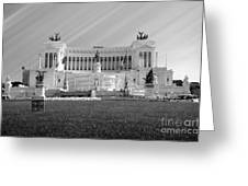 Monumental Architecture In Rome Greeting Card