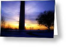 Monumental Sunset Greeting Card