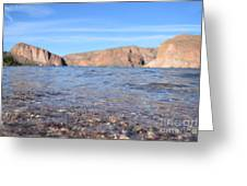Monuments On Water Greeting Card