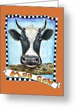 Moo Cow In Orange Greeting Card