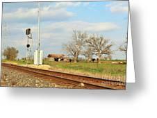 Moo Moo Train Track Greeting Card