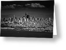 Moody Black And White Photo Of San Francisco California Greeting Card